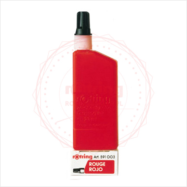Powiększ Tusz do tuszografów Rotring 23ml, kolor: czerwony