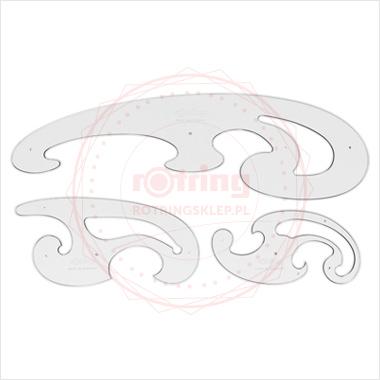 Komplet Rotring krzywików Burmester - 3 elementowy