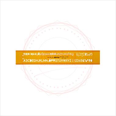 Powiększ Szablon pisma technicznego Rotring podwójny profil H - 5,0mm