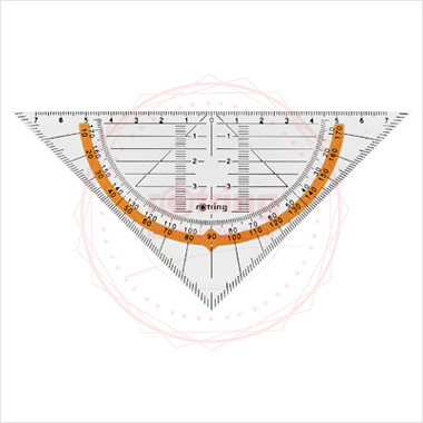 Powiększ Ekierka geometryczna Centro Rotring 16cm/45