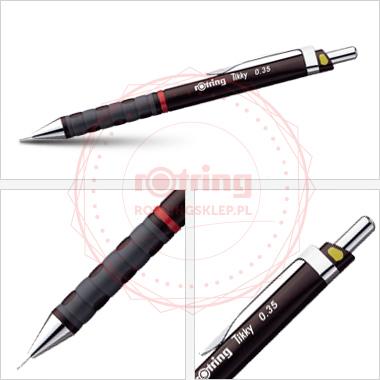 Powiększ Ołówek automatyczny Rotring Tikky III CC 0,35 bordowy korpus