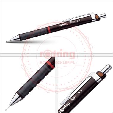 Ołówek automatyczny Rotring Tikky III CC 0,5 bordowy korpus