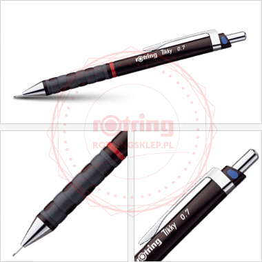 Powiększ Ołówek automatyczny Rotring Tikky III CC 0,7 bordowy korpus