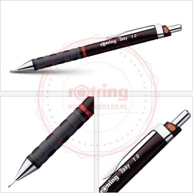 Powiększ Ołówek automatyczny Rotring Tikky III CC 1,0 bordowy korpus