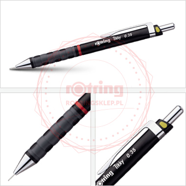 Powiększ Ołówek automatyczny Rotring Tikky III CC 0,35 czarny korpus
