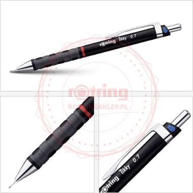 Ołówek automatyczny Rotring Tikky III CC 0,7 czarny korpus