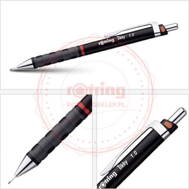 Powiększ Ołówek automatyczny Rotring Tikky III CC 1,0 czarny korpus