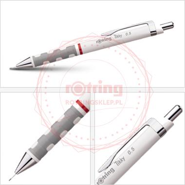 Powiększ Ołówek automatyczny Rotring Tikky III 0,5 biały korpus