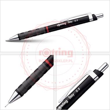 Powiększ Ołówek automatyczny Rotring Tikky III 0,5 czarny korpus