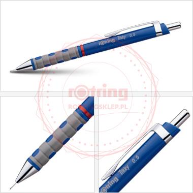 Ołówek automatyczny Rotring Tikky III 0,5 niebieski korpus