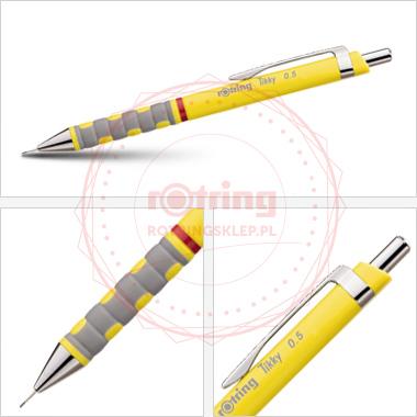 Ołówek automatyczny Rotring Tikky III 0,5 żółty korpus