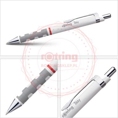 Powiększ Długopis Rotring Tikky III biały korpus