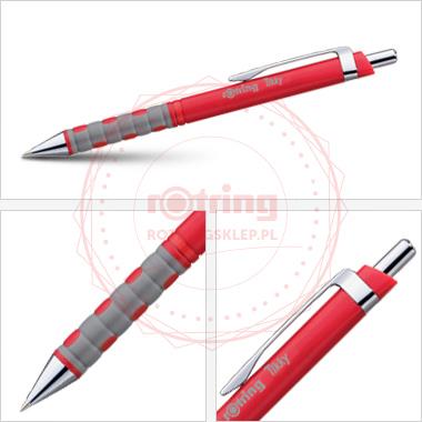 Powiększ Długopis Rotring Tikky III czerwony korpus