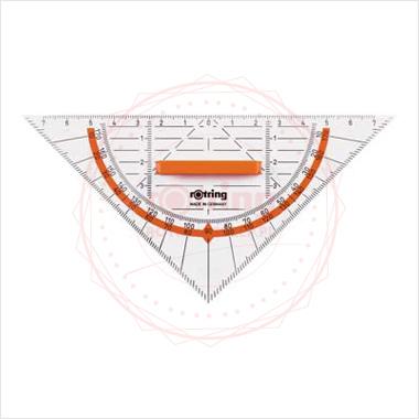 Powiększ Ekierka geometryczna Centro Rotring 16cm/45 z uchwytem