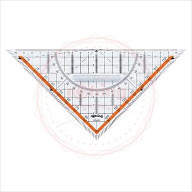 Powiększ Ekierka geometryczna Centro Rotring 22cm/45 z uchwytem