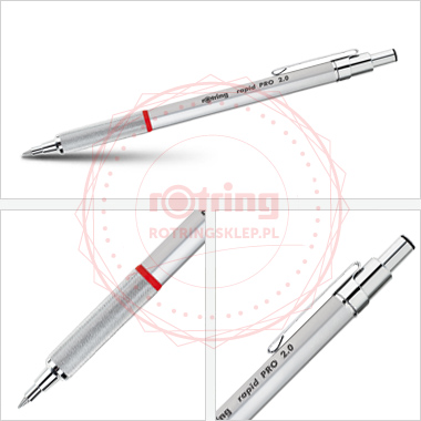 Powiększ Rotring Rapid Pro - precyzyjny ołówek automatyczny 2,0mm - srebrny