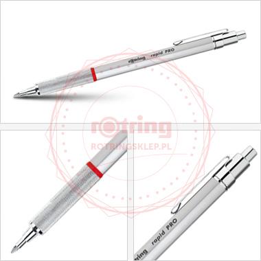 Powiększ Rapid Pro - długopis Rotring srebrny