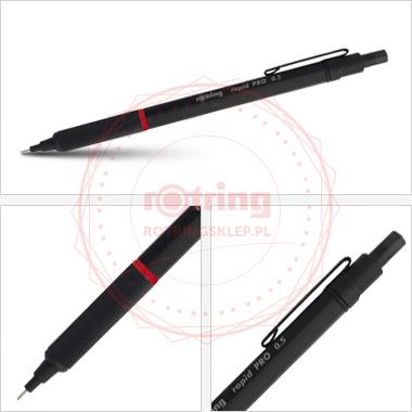Powiększ Rotring Rapid Pro - precyzyjny ołówek automatyczny 0,5mm - czarny