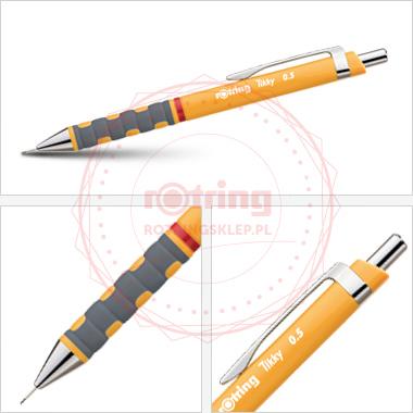 Powiększ Ołówek automatyczny Rotring Tikky III 0,5 pomarańczowy korpus