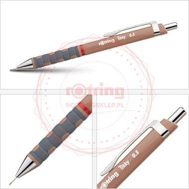 Powiększ Ołówek automatyczny Rotring Tikky III 0,5 brązowy korpus