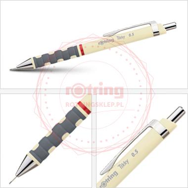 Powiększ Ołówek automatyczny Rotring Tikky III 0,5 kremowy korpus